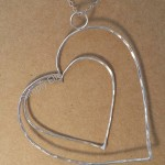 Open heart pendant large