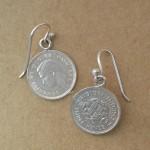 3d tudor shield earrings