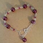 Pearl swarovski bracelet claret